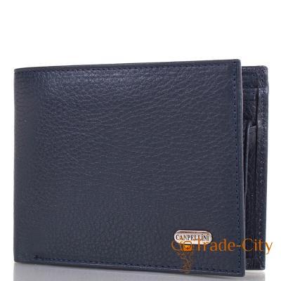 Мужской кожаный кошелек CANPELLINI (синий)