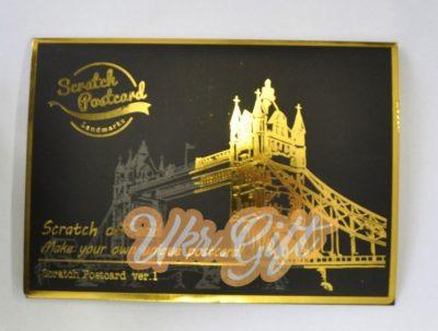 Набор из 4-х скретч-открыток ArtJoy «Лондон»
