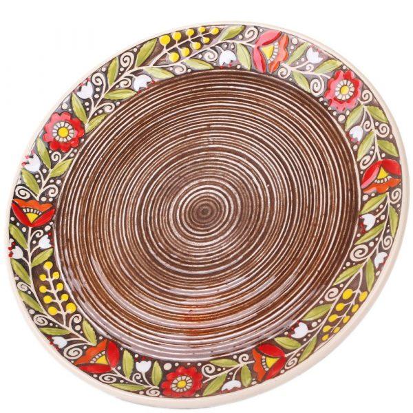 Набор из двух тарелок Manna Ceramics коричневого цвета