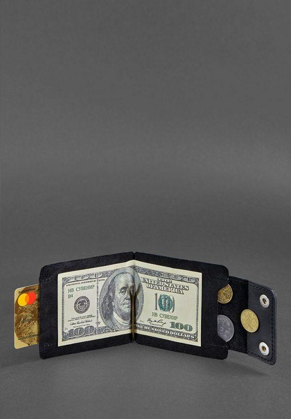 Портмоне- зажим для денег «10.0 Графит» BlankNote (Кожа Crazy Horse)