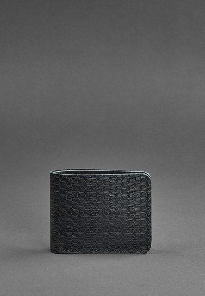 Портмоне 4.1 (4 кармана) «Карбон» BlankNote (графит)
