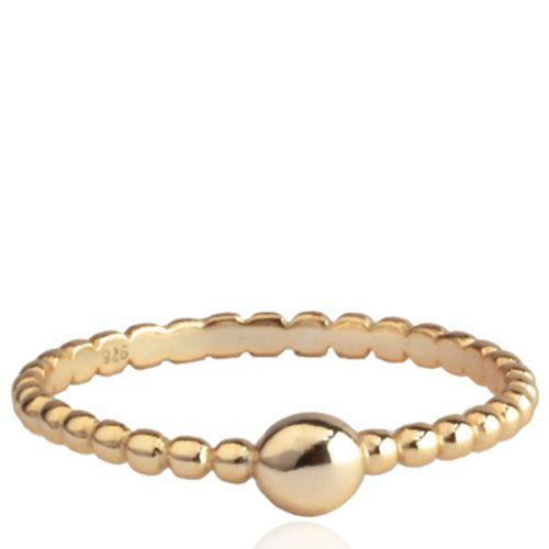 Позолоченное колечко Aran Jewels в форме цепочки из мелких шариков