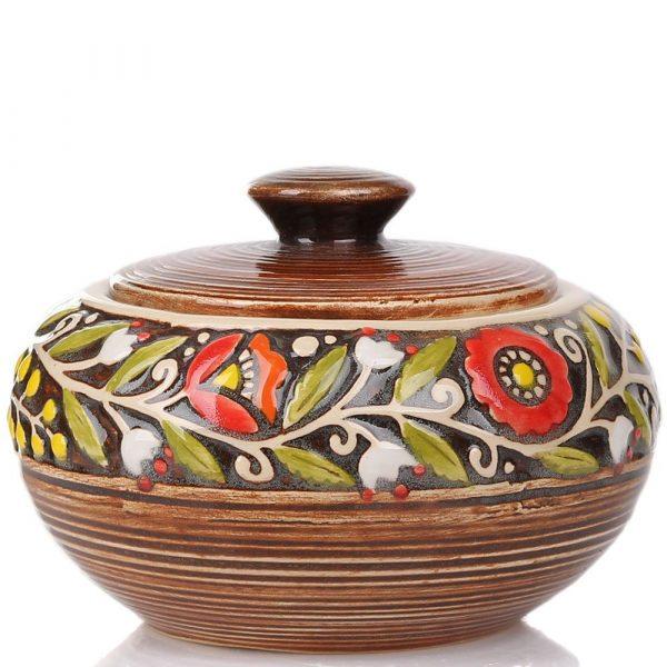 Сахарница Manna Ceramics коричневого цвета ручной работы