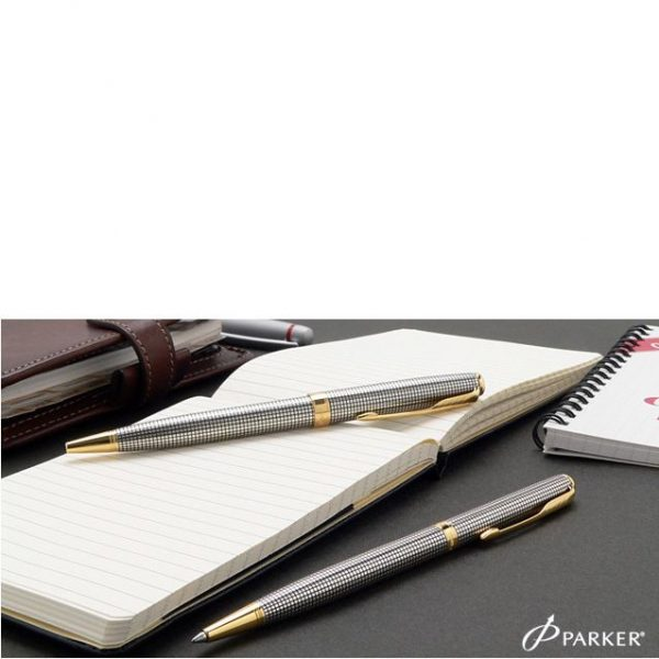 Серебряная шариковая ручка Parker «Sonnet 08 Slim SS Cisele»