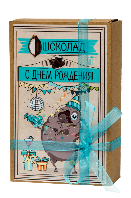 Шоколад Мопс «С Днем рождения»
