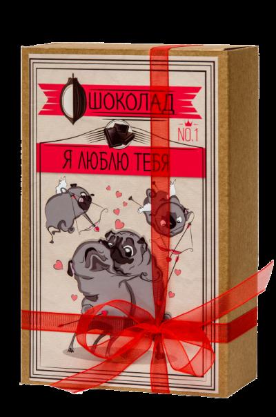 Шоколад Мопс «Я люблю тебя»