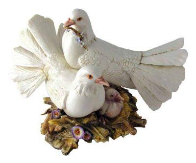 Статуэтка «Пара голубей» Porcellane Principe