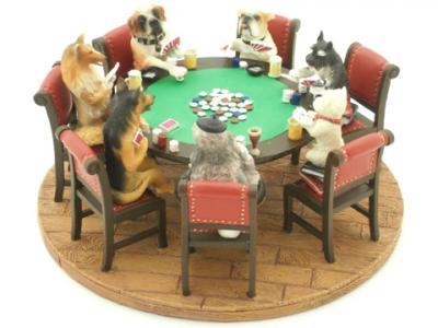 Статуэтка «Собаки играют в покер» Italfama
