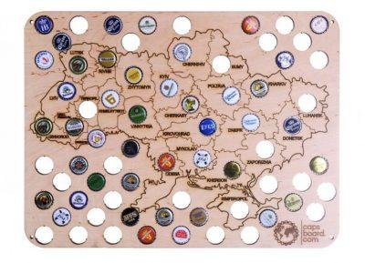 Карта Capsboard Ukraine City
