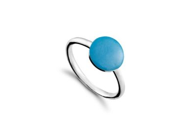 Кольцо Carameli круг из серебра