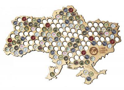 Необычная карта Capsboard Ukraine Big