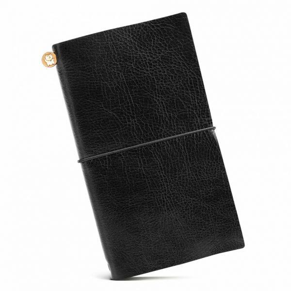 Блокнот из кожи ManekiBook «Black»