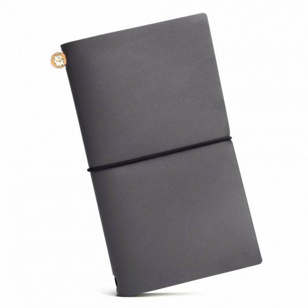 Блокнот из кожи ManekiBook «Gray»