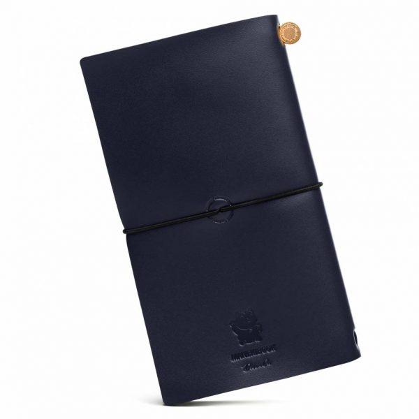 Блокнот из кожи ManekiBook «Navy»