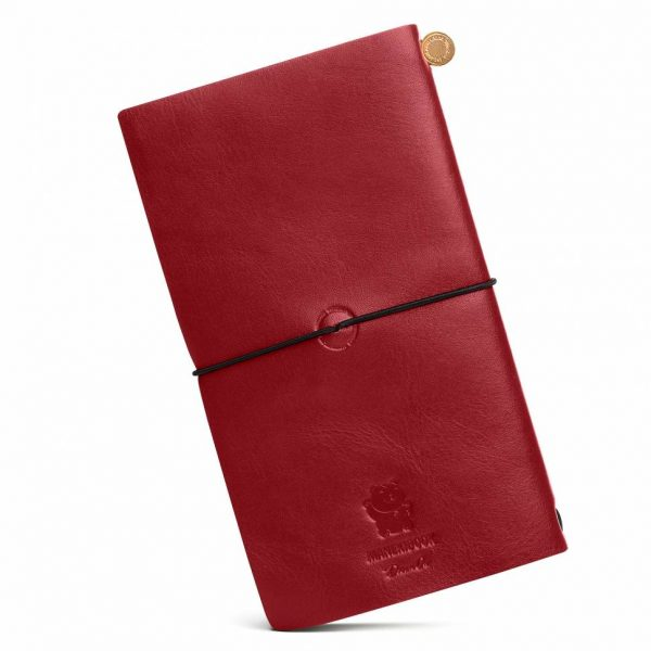 Блокнот из кожи Manekibook «Red»