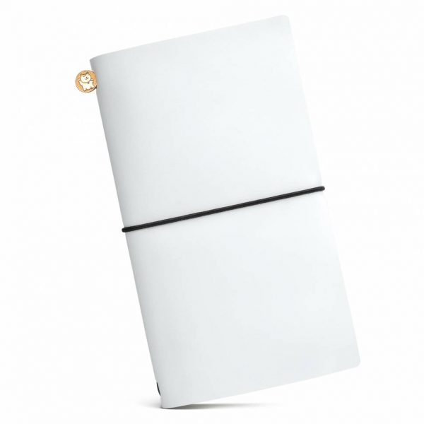 Блокнот из кожи ManekiBook «White»