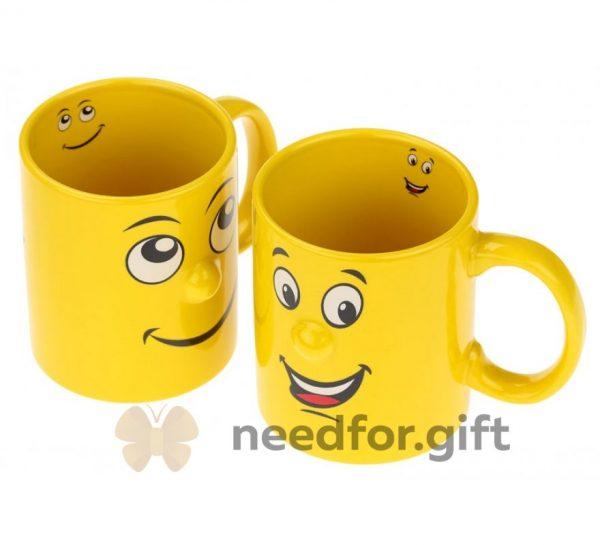 Чашка «Love more, worry less, laugh often»