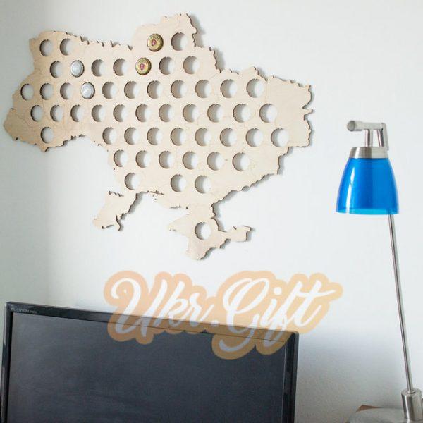 Карта пивных пробок «Ukraine beer cap map» Art brand