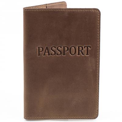 Мужская кожаная обложка для паспорта DNK LEATHER (ДНК ЛЕЗЕР)