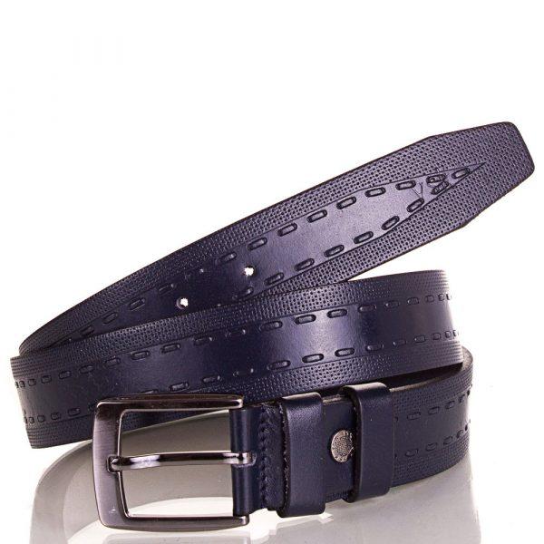 Мужской кожаный ремень Y.S.K. (синий)