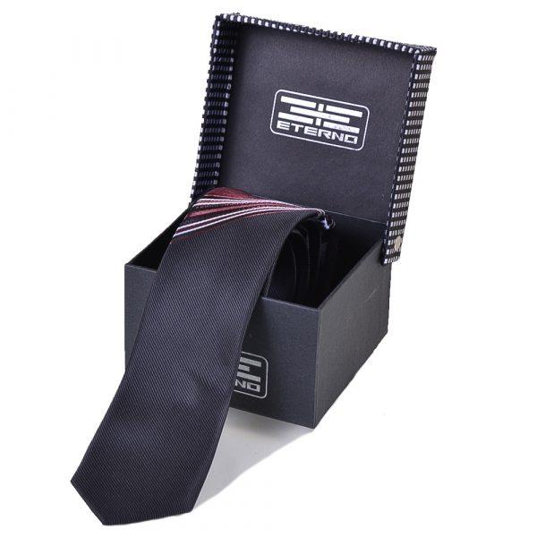 Мужской шелковый галстук ETERNO (темно-коричневый)