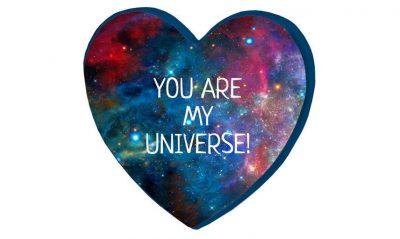 Подушка-сердце 3D «Ты моя вселенная»
