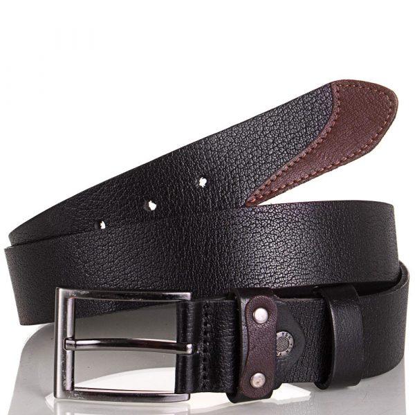 Ремень мужской кожаный Y.S.K. (с коричневой вставкой)