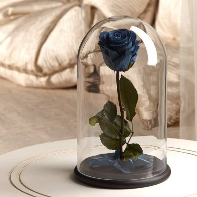Роза в колбе «The Rose» Premium Deep Blue