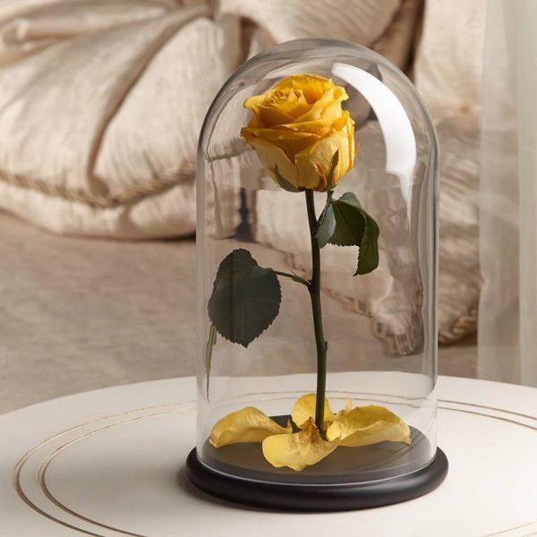 Роза в колбе «The Rose» Premium Sunshine Yellow