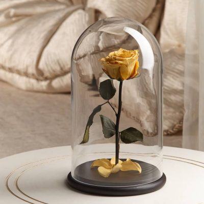 Роза в колбе ТМ «The Rose» Premium Light Yellow