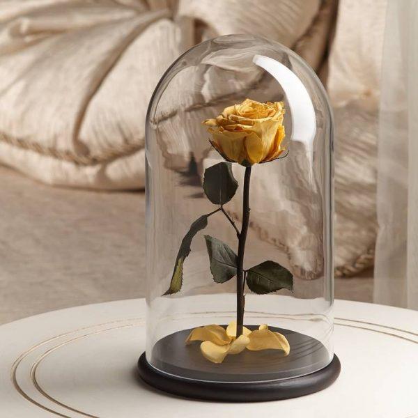 Роза в колбе ТМ «The Rose» Premium Light Yellow