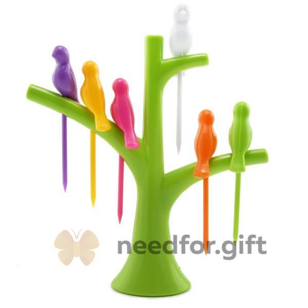 Шпажки для канапе «Птички на дереве»
