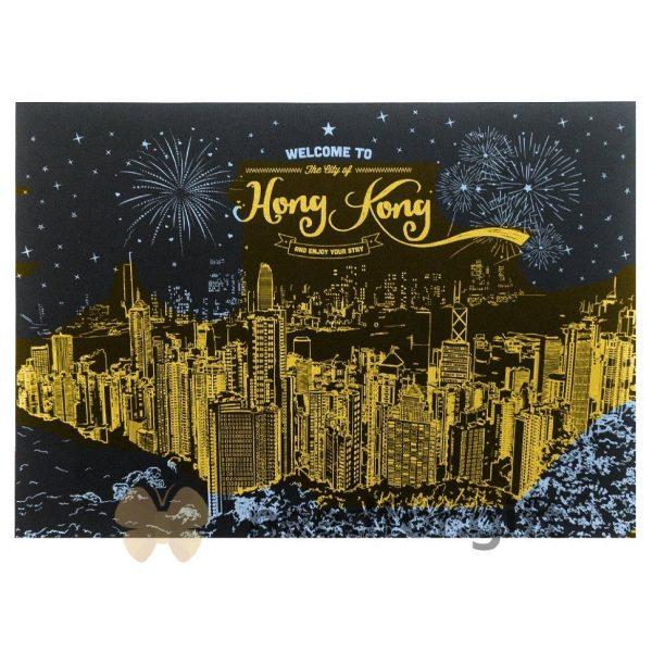 Скретч-плакат ночного города ArtJoy Scratch «Night View China Hongkong»