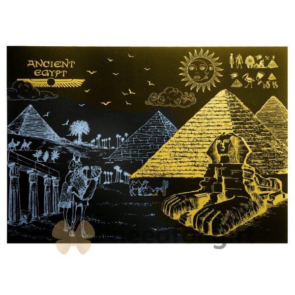 Скретч-плакат ночного города ArtJoy Scratch «Night View Egypt»