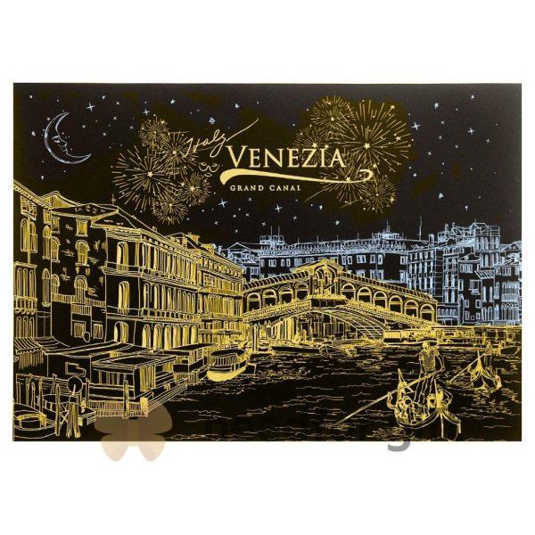 Скретч-плакат ночного города ArtJoy Scratch «Night View Italy Venice»