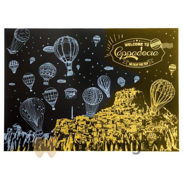 Скретч-плакат ночного города ArtJoy Scratch «Night View Turkey Cappadocia»