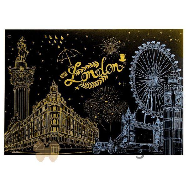 Скретч-плакат ночного города ArtJoy Scratch «Night View UK London»