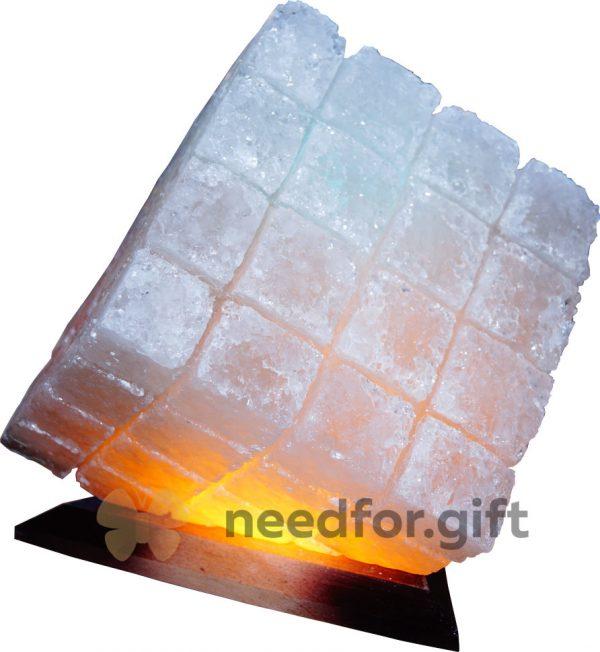 Соляной светильник «Куб»