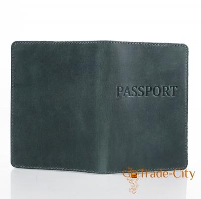 Женская кожаная обложка для паспорта DNK LEATHER (ДНК ЛЕЗЕР)