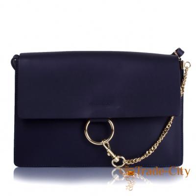 Женская кожаная сумка-клатч ETERNO (синий)