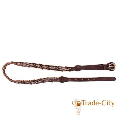 Женский плетёный кожаный ремень ETERNO (ЭТЕРНО)
