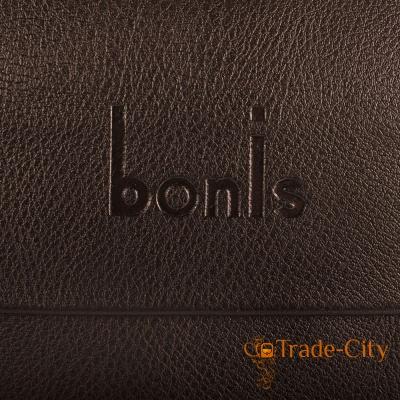 Борсетка мужская из качественного кожзаменителя BONIS (brown)