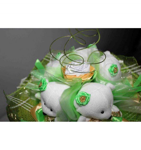 Букет из мягких игрушек «Мишутки»