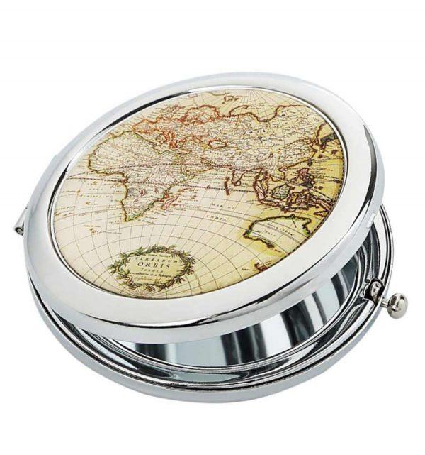 Карманное зеркальце «Карта»