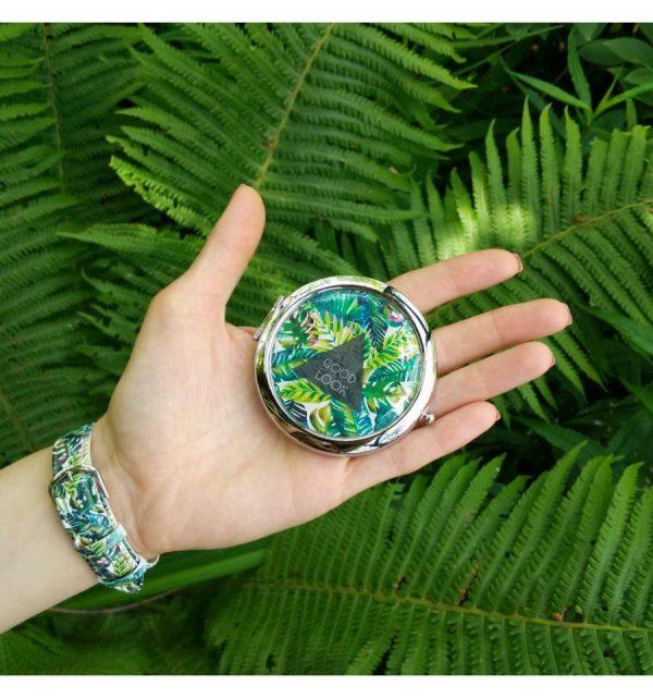 Карманное зеркало «Пальмовые листья»
