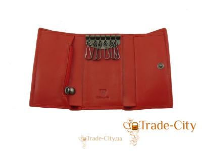 Ключница-кошелек женская кожаная WANLIMA (W82092840066-red)