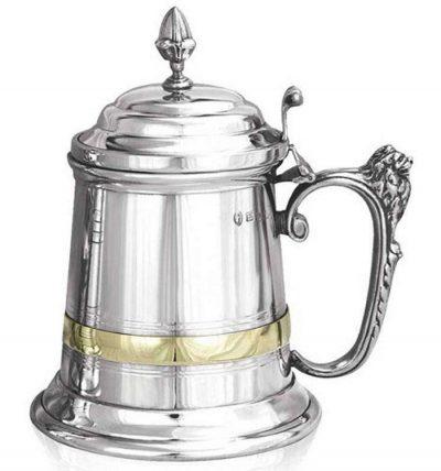 Королевский пивной бокал (танкард) декорированный медью