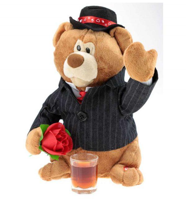 Медведь с цветочком «Выйду на улицу»