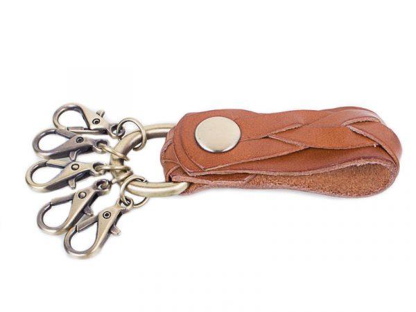 Мужская кожаная ключница ETERNO (camel)