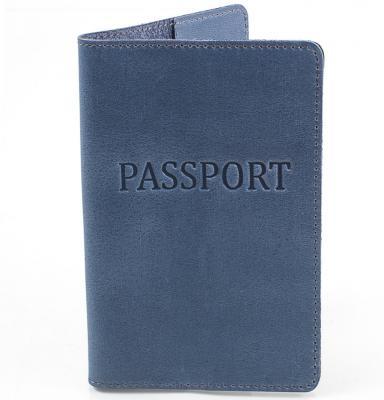Мужская кожаная обложка для паспорта DNK LEATHER (DNK-Pasport-Hcol.B)